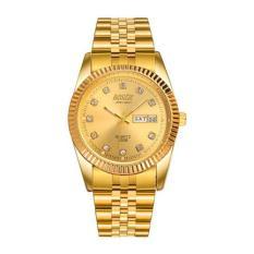 Đồng hồ nam dây thép không gỉ Bosck 5751 (Mặt vàng)