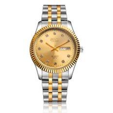Đồng hồ nam dây thép không gỉ Bosck 5752 (Mặt vàng)