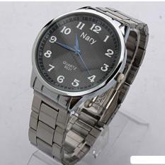 Đồng hồ nam dây thép không gỉ cao cấp Nary 4621 (Mặt đen)
