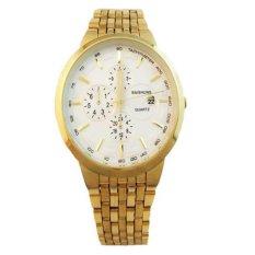 Đồng hồ nam dây thép mạ vàng cao cấp BAISHUNS BAS1661 (Mặt trắng)