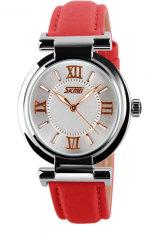 Đồng hồ nữ dây cao su Skmei 9075CL (Đỏ)
