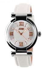 Đồng hồ nữ dây cao su Skmei 9075CL (Trắng)