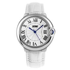 Đồng hồ nữ dây da Skmei 9088 dây (Trắng)