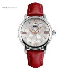 Đồng hồ nữ dây da Skmei 9095L (Dây đỏ)