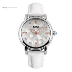 Đồng hồ nữ dây da Skmei 9095L dây (Trắng)