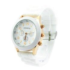 Đồng hồ nữ dây nhựa dẻo Geneva GN1 (Trắng)