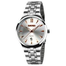 Đồng hồ nữ dây thép không gỉ cao cấp Skmei 4576 (Mặt trắng – Kim nâu)