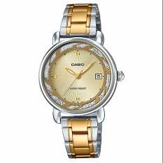 Đồng hồ nữ dây thép không gỉ Casio LTP-E120SG-9ADF (Bạc viền vàng)