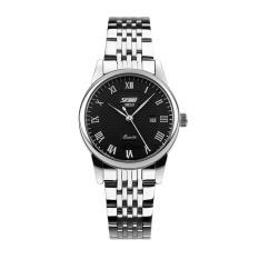 Đồng hồ nữ dây thép không gỉ Skmei 9058 (Mặt đen)