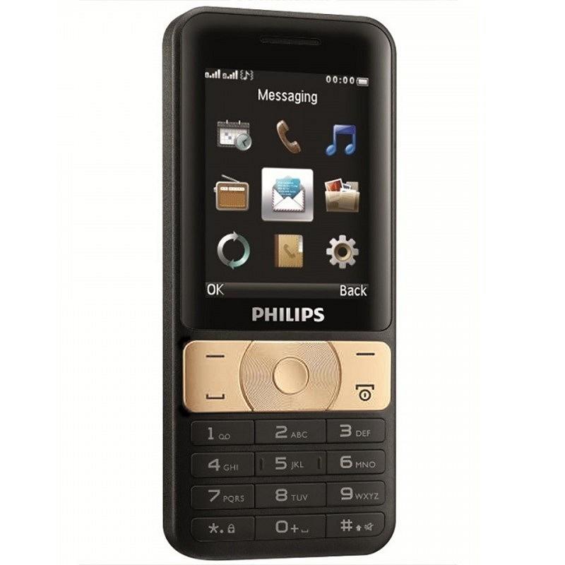 ĐTDĐ Philips E181 Pin 3100mAh kiêm sạc dự phòng (Đen Vàng) – Hãng phân phối chính thức