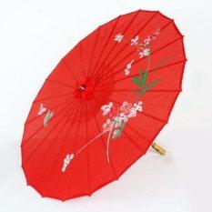 Dù cán gỗ Nhật Bản (màu đỏ)