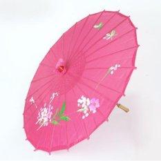 Dù cán gỗ Nhật Bản (màu hồng cánh sen)