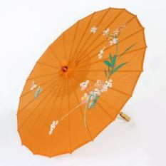 Dù cán gỗ Nhật Bản (màu cam)
