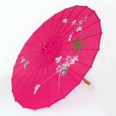 Dù cán gỗ Nhật Bản (Màu Hồng Đậm)