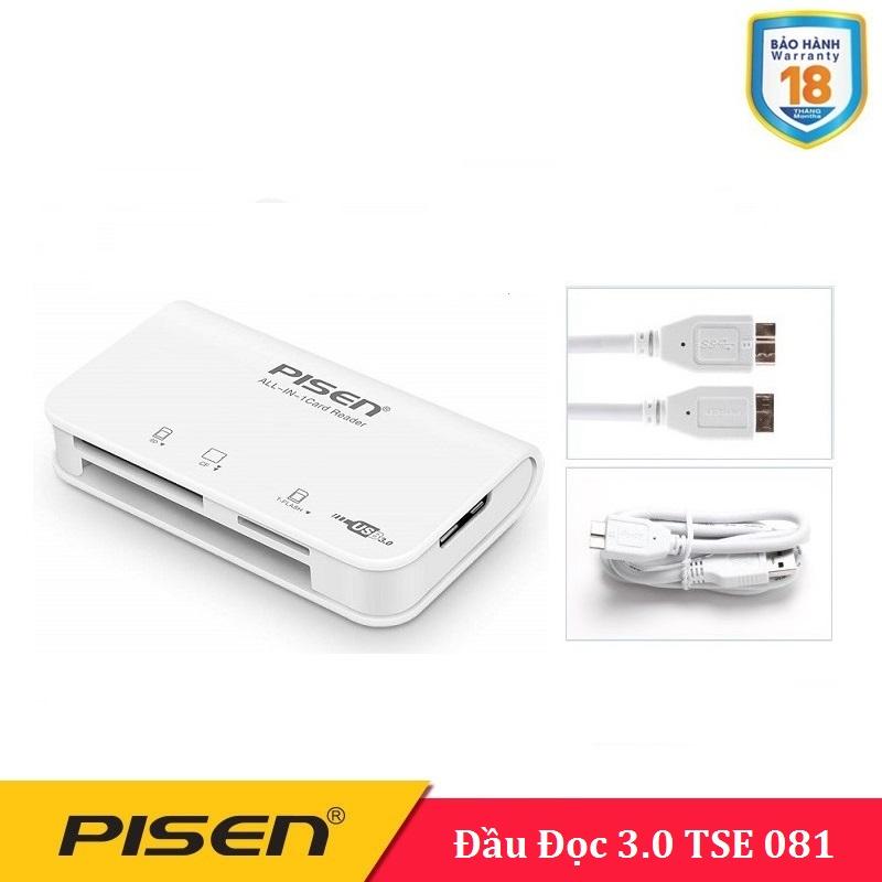 Đầu đọc thẻ nhớ Pisen 3.0 All in one - TSE081 - BH 18 Tháng