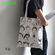 Túi tote mặt người cá tính