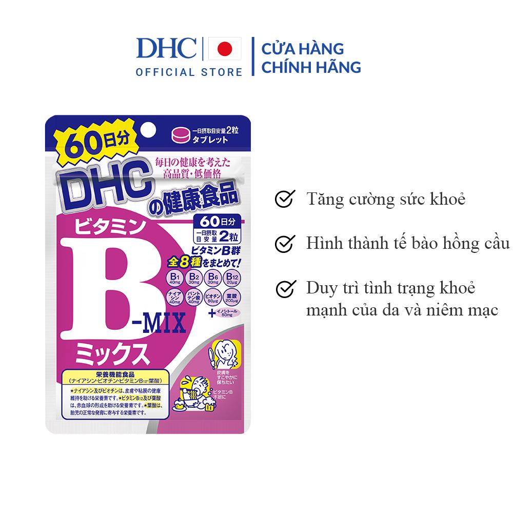 Viên uống Vitamin B tổng hợp DHC Vitamin B Mix 60 Ngày