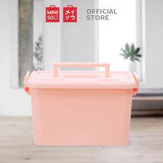 Hộp lưu trữ chất liệu nhựa cao cấp Miniso túi đựng quần áo vali du lịch (Nhiều màu)