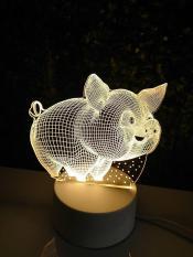 Đèn ngủ 3D hình chú heo ngộ nghĩnh – HOME DECOR