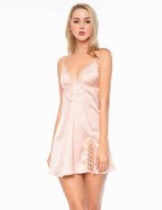 Dreamy VX09 Váy ngủ lụa cao cấp dáng xòe phối ren 3D xẻ tà quyến rũ, Váy ngủ lụa cao cấp, váy ngủ nữ, váy ngủ 2 dây, váy ngủ gợi cảm ,váy ngủ sexy,đầm ngủ lụa mặc nhà có ba màu đỏ đô, xanh đen và màu hồng pastel