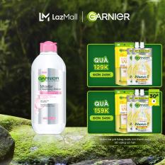 [Đơn 349K tặng túi + 3 quà + giảm 15K] Nước làm sạch và tẩy trang cho da nhạy cảm Garnier Micellar Water 400ml