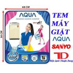 Tem dán máy giặt AQUA SANYO – tặng kèm băng keo 2 mặt