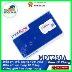 Sim 4G Mobifone MDT250A Trọn Gói 1 Năm ( 4gb/tháng)