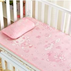 [ Hàng loại một lụa siêu mát ] Bộ chiếu kèm gối lụa điều hòa cho bé được làm từ sợi mây lụa tổng hợp, siêu mềm mịn, an toàn cho trẻ
