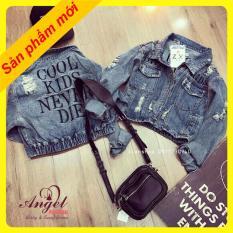 Áo khoác jean nữ thời trang ANGEL cá tính trẻ trung OT002