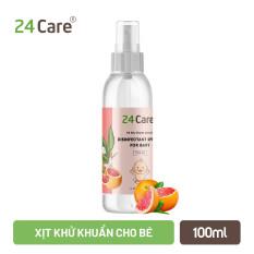 Tinh dầu xịt kháng khuẩn, khử mùi cho Bé 24Care 100ML – chiết xuất từ tinh dầu thiên nhiên, an toàn, bảo vệ bé.