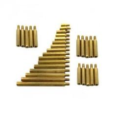10 cái cọc đồng lỗ ren M3 đầu đực cái ren 5mm dài 10mm