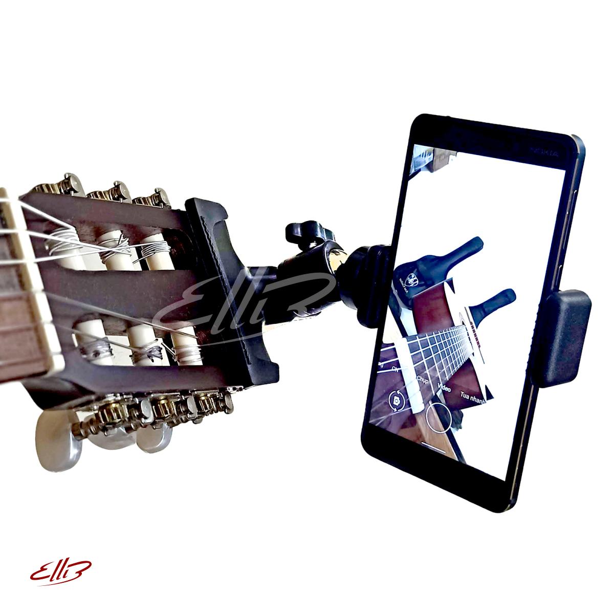 Giá kẹp điện thoại cho đàn Guitar (Kẹp đầu đàn guitar)