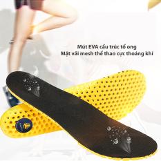 Lót giày thể thao tổ ong vải mesh màu đen loại gót dày cao cấp cực êm chân, thoáng khí – BSPK128 – buybox
