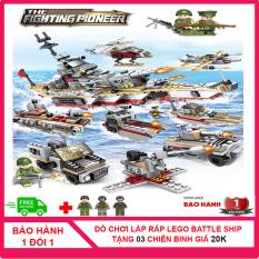 [MUA 1 TẶNG 3, CÓ VIDEO] Bộ Đồ Chơi Lắp Ráp Lego 502 Mảnh Ghép Battlel Ship ( Chiến Hạm Biển) CS1008 Children Store Nhựa ABS An Toàn Cho Bé [TẶNG] 03 Hình Nhân Chiến Binh Mùa Đông Trị Giá 25.000