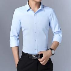 Áo Sơ Mi Nam Tay Dài Hàn Quốc Vải Lụa Thái Chống Nhăn , Sơmi nam chống xù hàng chất lượng