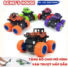 Xe ô tô đồ chơi,xe địa hình bánh to, chạy bằng lực quán tính,xe địa hình bánh đà, đồ chơi trẻ em 4 màu siêu hấp dẫn