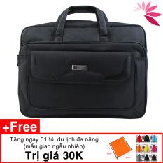 Cặp đựng laptop , túi đựng laptop sách vở tài liệu C02 42 x 36 x 17cm vải đẹp, lót lụa tặng quà trị giá 30K