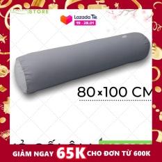 Vỏ Gối Ôm Silky Washing Xám K-Bedding by Everon KSS101 – Chăn ga Hàn Quốc