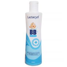 Sữa tắm gội trẻ em Lactacyd BB 250ml chống rôm sẩy an toàn cho bé