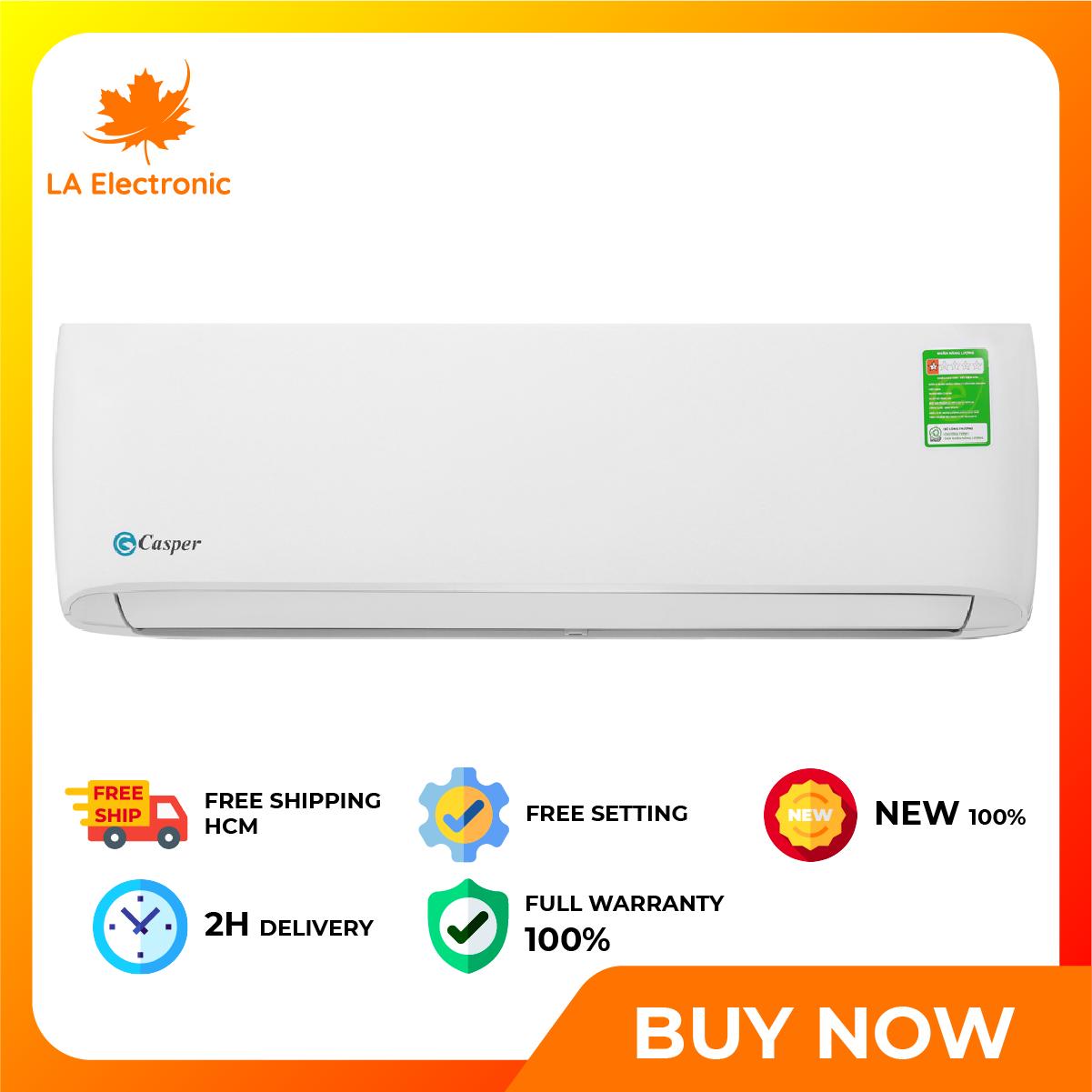 Trả Góp 0% – Máy lạnh – Casper 1 Air conditioner HP LC-09TL32, thiết kế thông minh, công nghệ hiện đại, hoạt động mạnh mẽ và bền bỉ, có chế độ bảo hành và xuất xứ rõ ràng – Miễn phí vận chuyển HCM