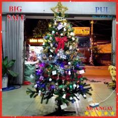Cây thông trang trí Giáng Sinh có đầy đủ phụ kiện – 1.8m