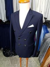 Áo vest nam ôm body kiểu 6 nút màu xanh đen đậm