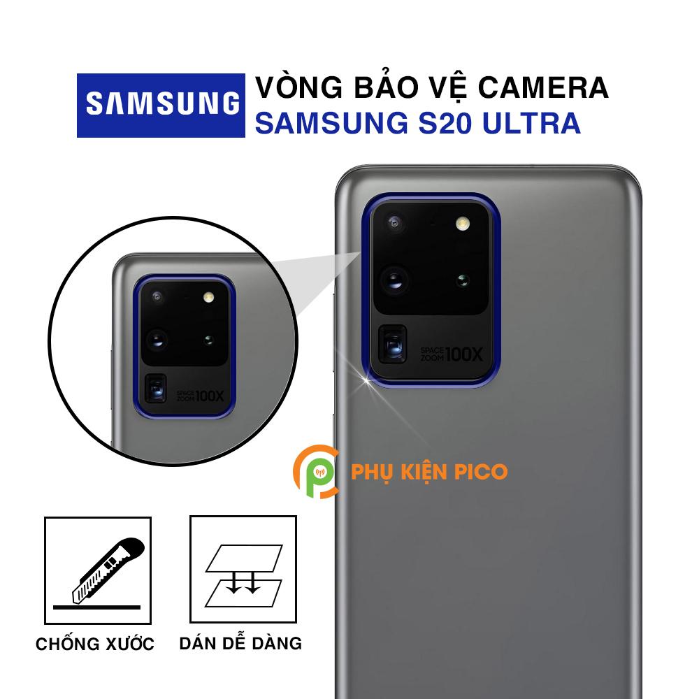 Vòng bảo vệ camera Samsung S20 Ultra kim loại chống xước - Ốp viền camera Samsung Galaxy S20 Ultra