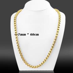 Dây chuyền nam bông dừa đẹp mạ vàng 7 ly dài 60 cm, 1 đổi 1 nếu đen