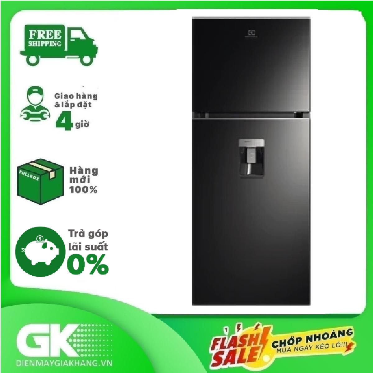 [GIAO HÀNG 2 – 15 NGÀY, TRỄ NHẤT 30.09] [Trả góp 0%]Tủ lạnh ETB3440K-H ngăn đông trên 312L UltimateTaste 300 – Công nghệ NutriFresh Inverter