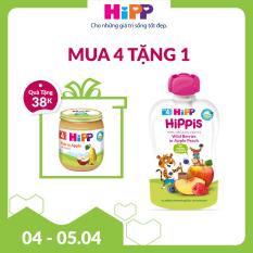 [FREESHIP] Dinh dưỡng 100% trái cây nghiền hữu cơ HiPPiS Organic (Dâu rừng, Táo, Đào)