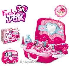 Bộ đồ chơi trang điểm xách tay màu hồng cho bé gái 008-917A
