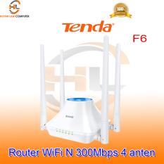 Bộ phát WiFi Tenda F6 (Mẫu mới 2021) với 4 anten 5dBi chuẩn N 300Mbps – Microsun phân phối