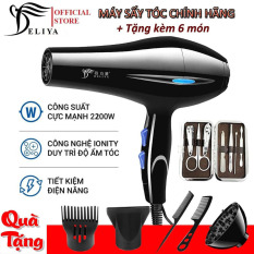 Máy sấy tóc Deliya công suất 2200W 3 chiều nóng, vừa, mát với 2 mức nhiệt độ – Tặng kèm 6 món phụ kiện- Bảo hành 12 tháng