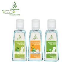 [mùi tự chọn] Gel rửa tay khô tinh dầu thiên nhiên và Nha Đam chai 60ml JULYHOUSE giúp cho da tay mềm mại khử mùi hôi thư giản tinh thần